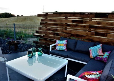 Gartenbau-Sichtschutz-Lounge
